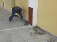 Ремонт бетона. Узел сопряжения стена-пол