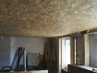 Подшивка потолка OSB плитой
